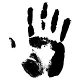 Hand print. Print of a hand stock illustration