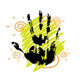 Hand print background design Stock Photography