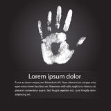 Hand print background. Hand print. This is file of EPS10 format Royalty Free Stock Photos