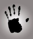 Hand print. Black Hand print close up Royalty Free Stock Image