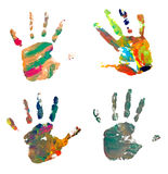 Hand Print Color Art Craft Trace Paint Royalty Free Stock Image