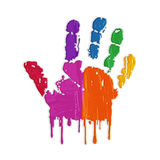 Hand print & colors Royalty Free Stock Images