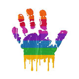 Hand print & colors Stock Photography