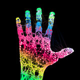 Hand print. Royalty Free Stock Image