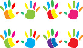 Hand print icon Stock Image