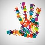 Hand Print icon. Stock Image