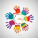 Hand Print icon. Stock Images