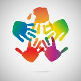 Hand Print icon Royalty Free Stock Images