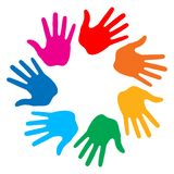 Hand Print icon Royalty Free Stock Photos