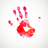Hand Print. Illustration of an Abstract Background with Hand Print Royalty Free Stock Images