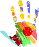 Hand print with Royalty Free Stock Images