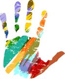 Hand print Royalty Free Stock Photo