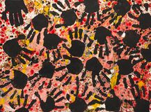 Hand Print Painting Royalty Free Stock Image