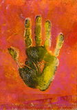 Hand Print Painting Stock Images