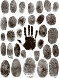 Hand Print Pattern Paper Stock Photo