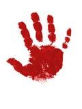 Hand print. A red handprint visual work Royalty Free Stock Photos