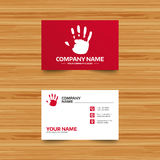 Hand print sign icon. Stop symbol. Royalty Free Stock Photo