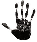 Hand Print Silhouette stock photo
