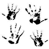 Hand print, skin texture pattern. Vector illustration Stock Photo