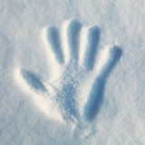 Hand Print in Snow Royalty Free Stock Image