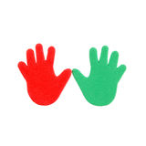 Hand print stickers Stock Photos