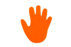 Hand print stickers Royalty Free Stock Photo