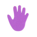 Hand print stickers Royalty Free Stock Photos