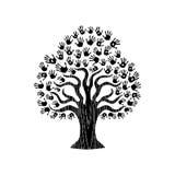 Hand print tree illustration for community help Stock Photography
