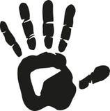 Hand print vector. Hand print finger sign vector Stock Image