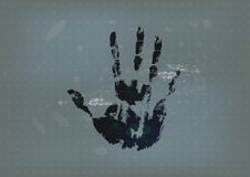 Hand print with vintage background Royalty Free Stock Image