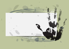 Hand print with water color background Stock Photos