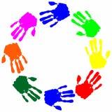 Hand print Stock Photography