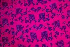 Hand printing fabric Stock Image