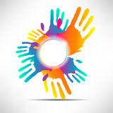 Hand prints 1 Royalty Free Stock Images