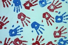 Hand Prints Royalty Free Stock Image