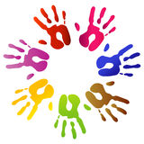 Hand prints. Illustration of colorful hand prints Stock Photos