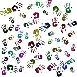 Hand prints Stock Photos