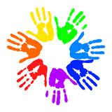 Hand prints Royalty Free Stock Photos