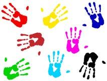 Hand prints Stock Photography