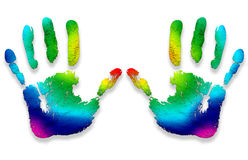 Hand Prints Colors Royalty Free Stock Photography