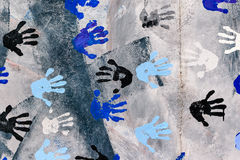 Hand prints East Side Galery, Berlin Wall Royalty Free Stock Images