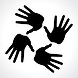 hand prints icon Stock Photos