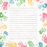 Hand prints. Illustration of a Background with Colorful Hand prints Stock Photos
