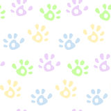 Hand prints pattern. Kids colorful hand prints seamless pattern Royalty Free Stock Image
