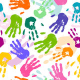 Hand Prints Royalty Free Stock Photography