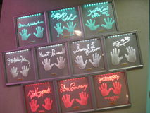 Hand prints of the Stars. Line the Strip of Las Vegas stock photography