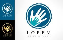 Hand prints vector logo. Logo design vector illustration Stock Images