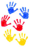 Hand Prints Young Child Hands Stock Images
