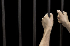 Hand prisoner jail Stock Image
