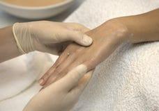 Hand procedure Royalty Free Stock Photos